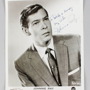 The Father of Rock n Roll - Johnnie Ray Signed & Inscribed 8x10 Photo - JSA