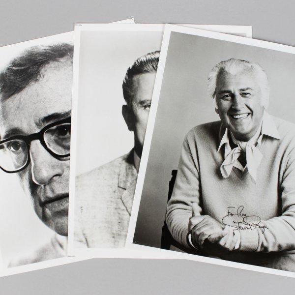 Actors Lot (3) Signed 8x10 Photos - Kirk Douglas, Woody Allen & Stewart Granger - JSA