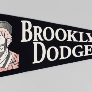 "Minty Early-50's Brooklyn Dodgers ""Bum"" Pennant"