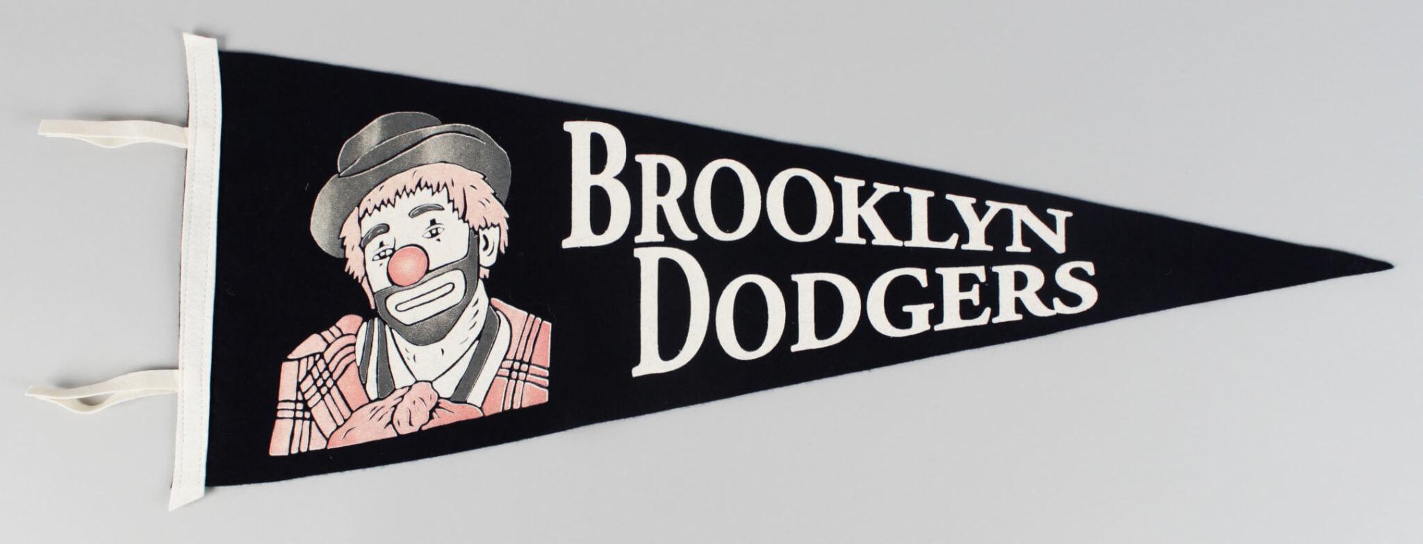 "Brooklyn Dodgers ""Bum"" Pennant"