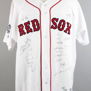 2004 WS Champs- Boston Red Sox Team Signed LE 64/150 Jersey (23 Sigs.) - MLB & Goldin Sports