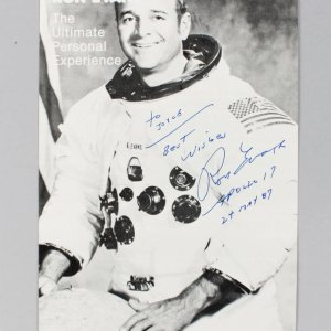 Ron Evans Signed Photo Card Apollo 17 - COA JSA