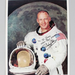 Apollo 11 - Buzz Aldrin Signed & Inscribed 8x10 Photo - JSA