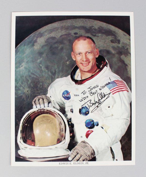 Apollo 11 - Buzz Aldrin Signed & Inscribed 8x10 Photo - JSA