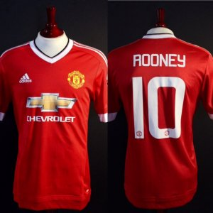 A Wayne Rooney Game-Used #10 Manchester United FC Home Shirt.  2015/16 Season.