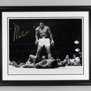 The Greatest of All Time! Muhammad Ali Signed 43x53 Photo Display - JSA