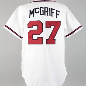 1996 Atlanta Braves - Fred McGriff Game-Used, Signed Jersey