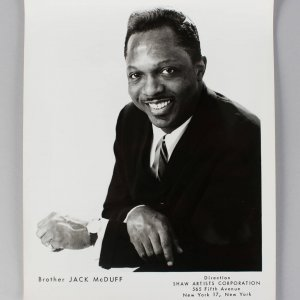Brother Jack McDuff 8x10 BW Vintage Photo
