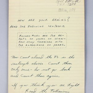 Muhammad Ali Handwritten Notes Checking His Mental State (1960's) Provenance Khalilah Ali