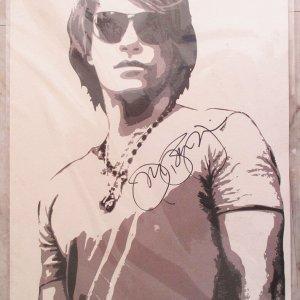 Jon Bon Jovi HAND SIGNED LITHOGRAPH RARE VIP ONLY