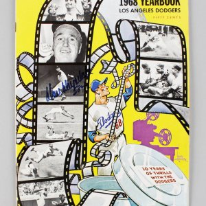 "1968 Los Angeles Dodgers - Don Drysdale Signed ""58 2/3"" & Inscribed Yearbook - JSA"