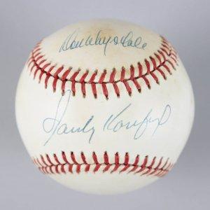 Dodgers - Sandy Koufax & Don Drysdale Signed ONL Baseball - JSA