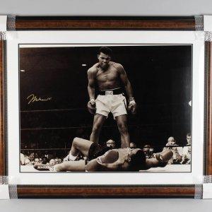 Muhammad Ali Over Liston Signed 42x53 Photo Display - JSA