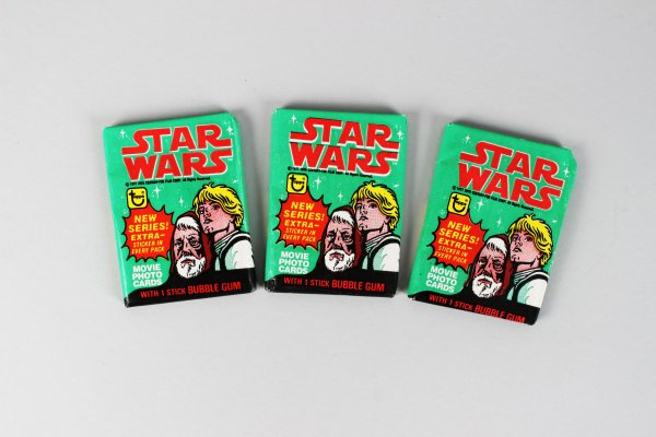 1977 Topps Star Wars Series 4 Wax Pack Cards Lot (3)