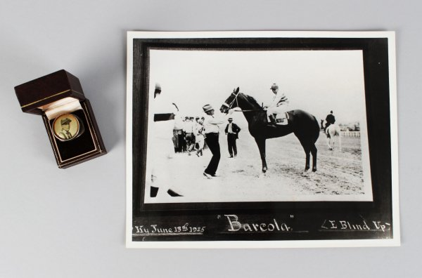 1925 Frank McCabe Trainer For Calumet Farms Ring & Photo