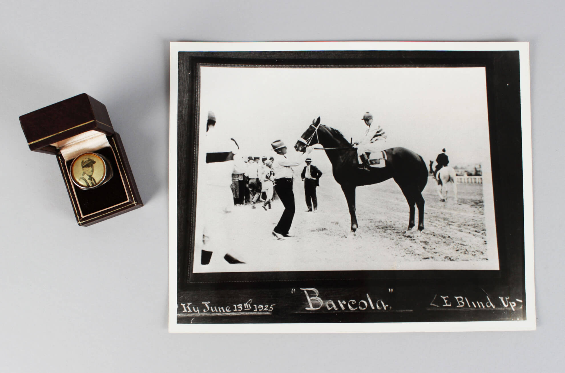 1925 Frank McCabe HOF Trainer For Calumet Farms Ring & Photo