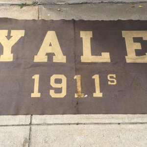 VINTAGE DATED 1911's School Reunion YALE UNIVERSITY RARE LARGE SIZE BANNER!