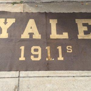 VINTAGE DATED 1911's School Reunion YALE UNIVERSITY RARE LARGE SIZE BANNER!