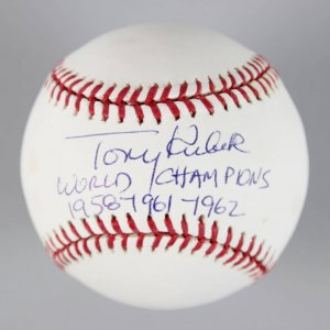 New York Yankees - Tony Kubek Signed & Inscribed OML Baseball - COA MLB