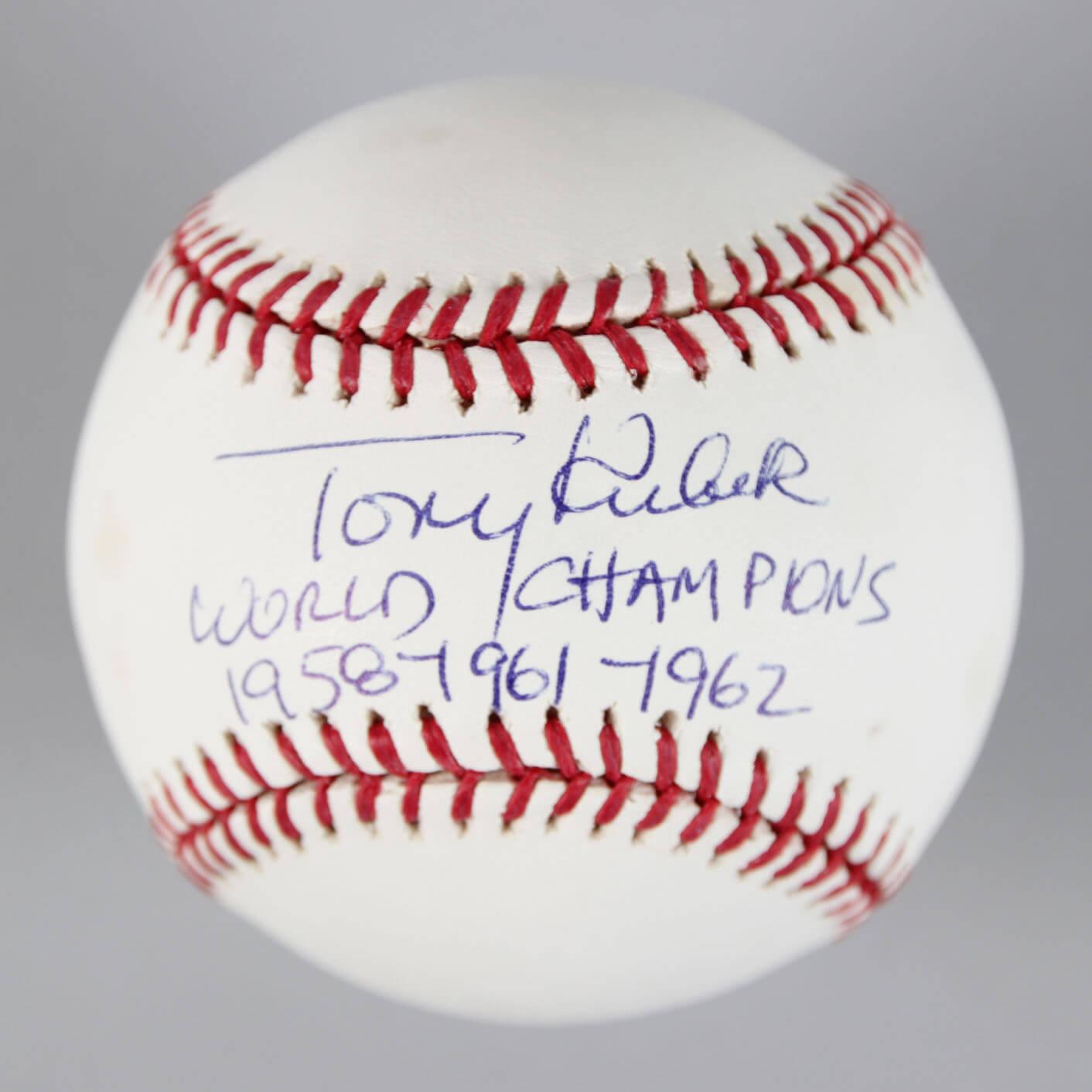 Tony Kubek Signed Baseball Yankees - COA MLB