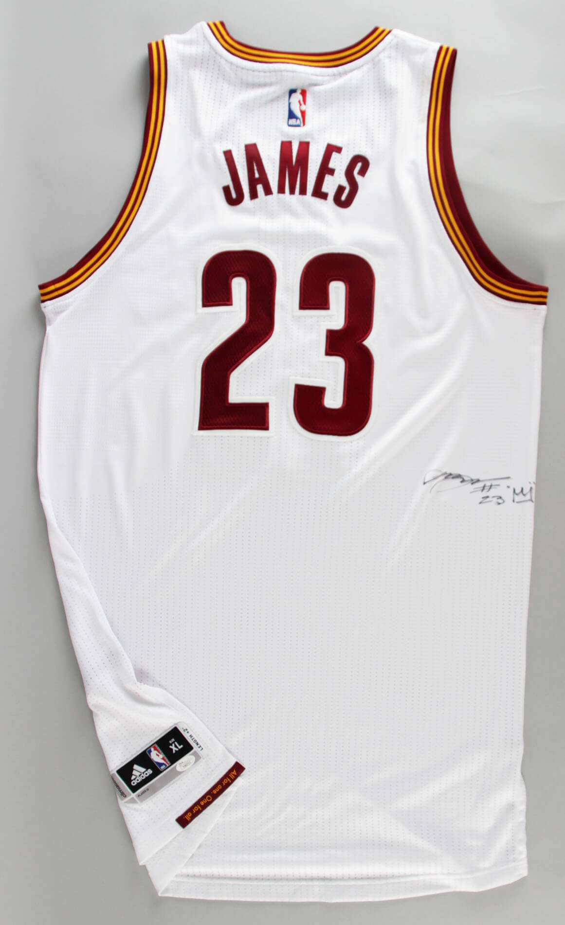 wholesale dealer fd05b 2f0a6 Cavs – LeBron James Signed, Inscribed w/Crown Authentic Game Style Jersey  (JSA Full LOA) | Memorabilia Expert