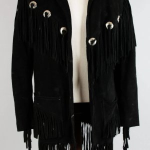 Musician Songwriter Rainbow,Dio.  Jimmy Bain's Black Suede Fringed Jacket Provenance LOA