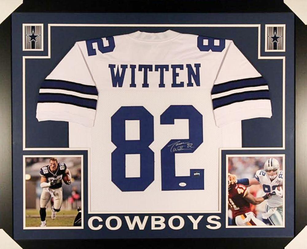 innovative design a95bb c6ca1 Jason Witten Signed Cowboys 35x43 Custom Framed Jersey /JSA COA & Witten  Hologram