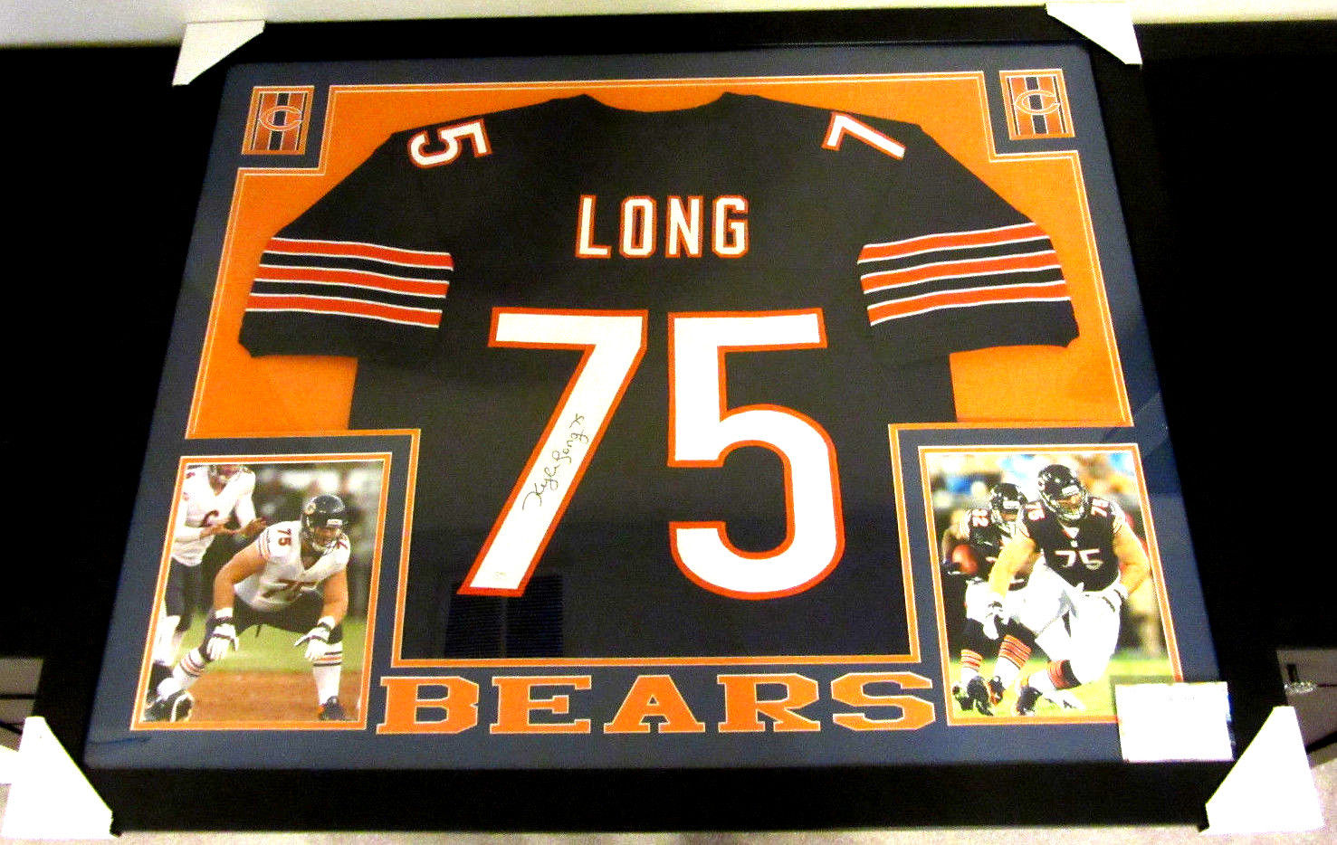 outlet store 47270 42856 KYLE LONG AUTHENTIC AUTOGRAPHED FRAMED AND MATTED CHICAGO BEARS JERSEY
