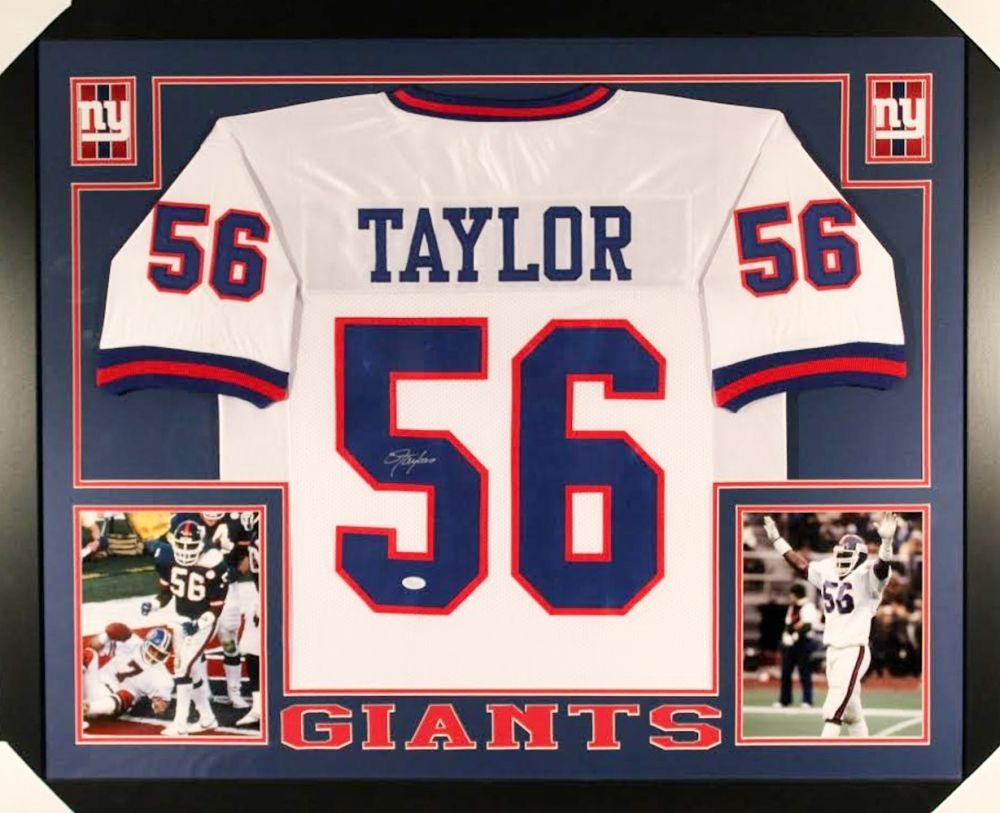 e5b29173a5e Lawrence Taylor Signed Giants 35×43 Custom Framed Jersey (JSA COA ...