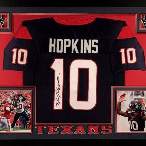 DeAndre Hopkins Signed Texans 35x43 Custom Framed Jersey (JSA COA)
