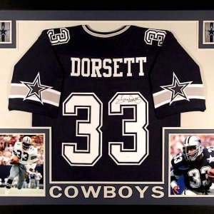Tony Dorsett Signed Cowboys 35x43 Custom Framed Jersey (JSA COA)
