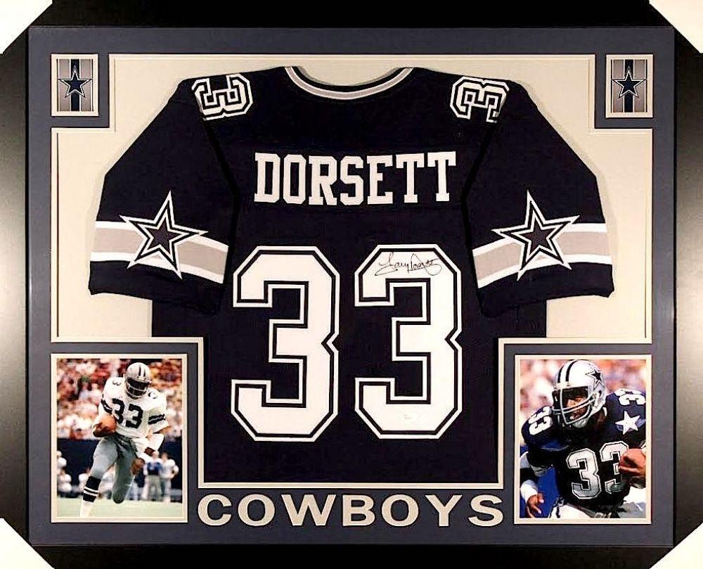43b7f50d6 Tony Dorsett Signed Cowboys 35×43 Custom Framed Jersey (JSA COA ...