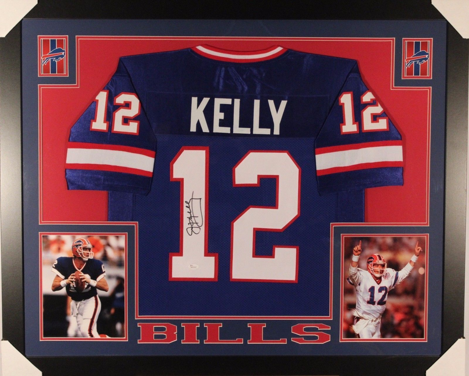 best sneakers 92d47 7a039 JIM KELLY AUTHENTIC AUTOGRAPHED FRAMED AND MATTED BUFFALO BILLS JERSEY