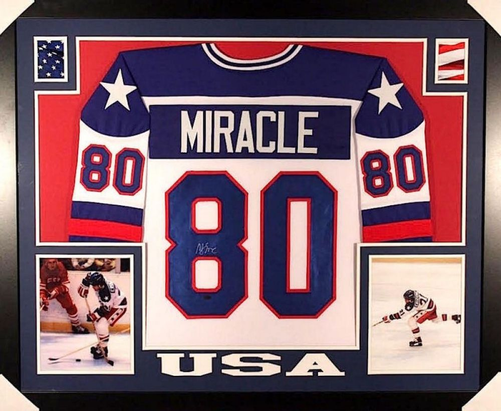 MIKE ERUZIONE AUTOGRAPHED FRAMED / MATTED MIRACLE ON ICE USA HOCKEY ...