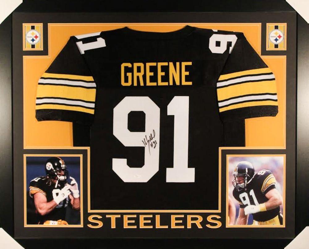 big sale 70d45 df139 Kevin Greene Signed Steelers 35x43 Custom Framed Jersey (JSA COA)