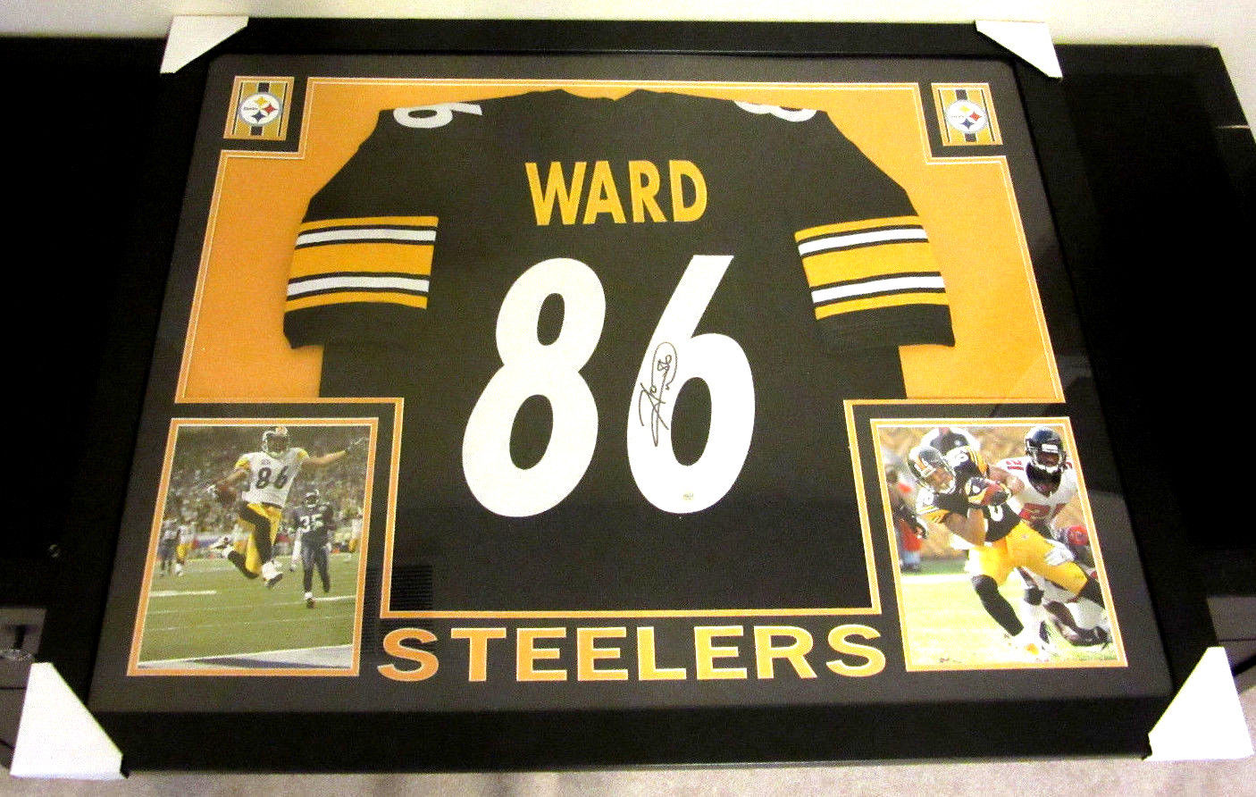 aa8a54574 HINES WARD AUTHENTIC AUTOGRAPHED FRAMED AND MATTED PITTSBURGH ...