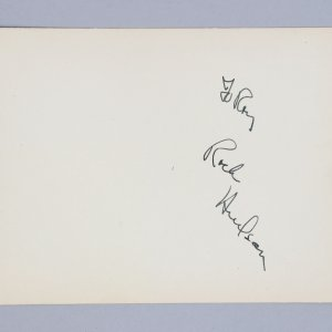 Dynasty - Rock Hudson Signed 5x6 Vintage Album Page- COA JSA
