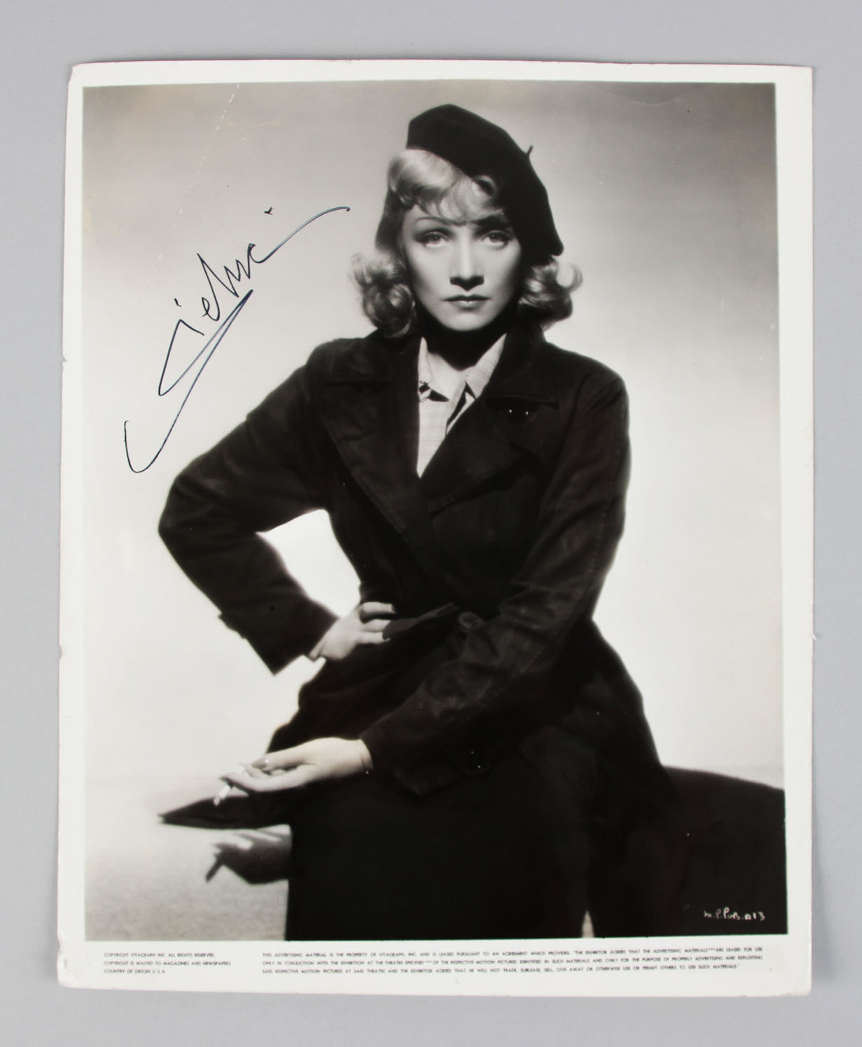 The Blue Angel - Marlene Dietrich Signed 8x10 Vintage Photo- COA JSA