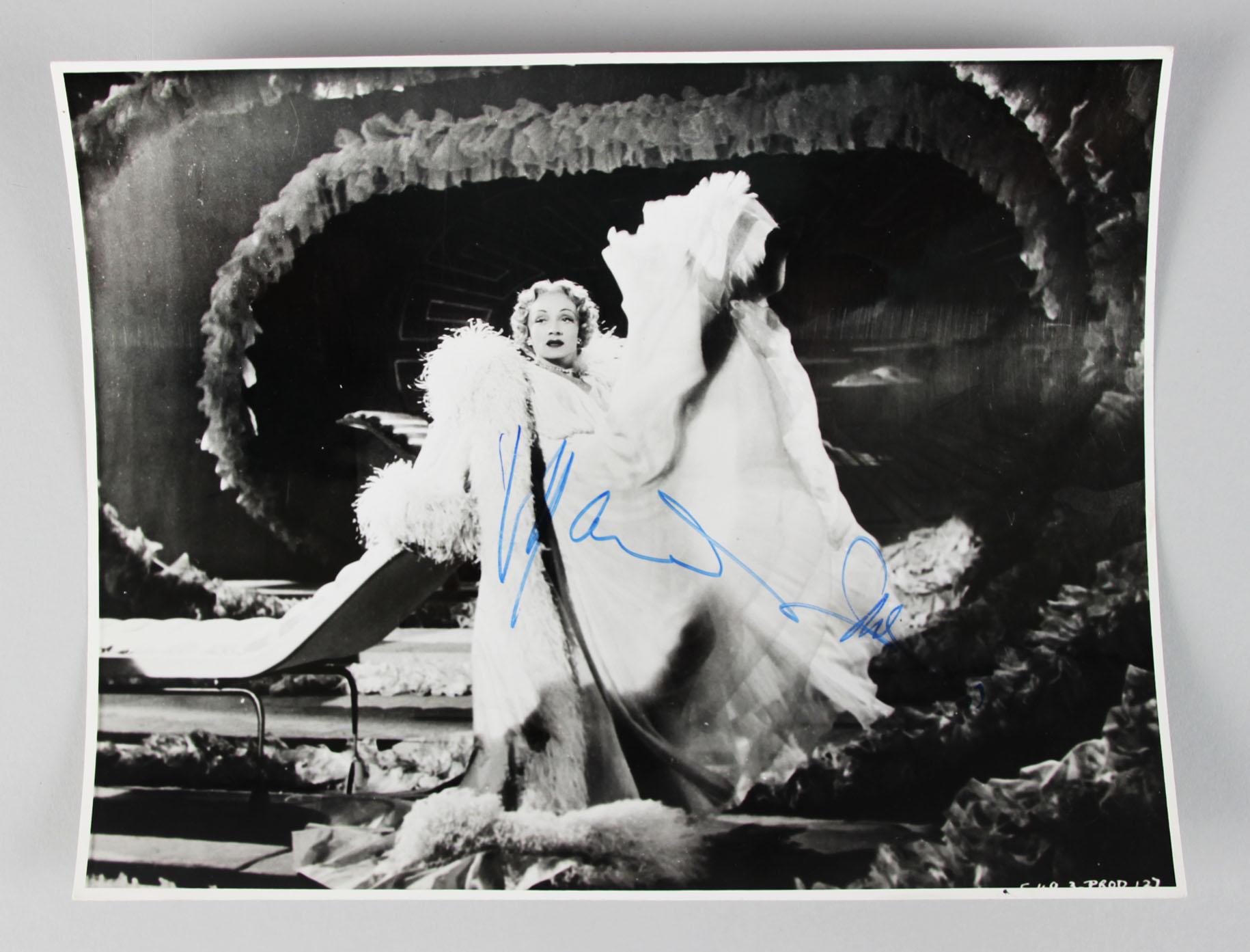 Stage Fright - Marlene Dietrich Signed (Full Signature) 8x10 Photo- COA JSA