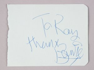Music Artist - David Bowie Signed & Inscribed 3x5 Vintage Cut - JSA Full LOA