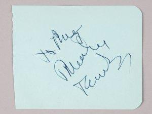 The Godfather- Marlon Brando Signed 3 3/4 x 4 3/4 Vintage Cut - JSA Full LOA