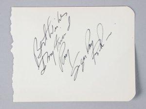 "Sugar Ray Robinson Signed & Inscribed 3 3/4"" x 4 3/4"" Vintage Cut - JSA Full LOA"