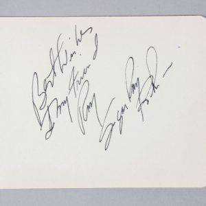 "Sugar Ray Robinson Signed & Inscribed 3 3/4"" x 4 3/4"" Vintage Cut - JSA Full LOA"