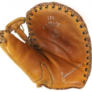 1930's Jimmie Foxx Athletics/Red Sox Spalding Baseball Store Model Player Endorsed First Baseman's Mitt