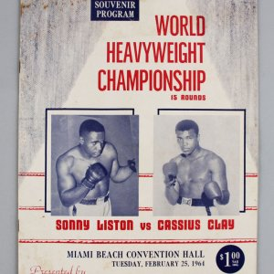 Cassius Clay vs. Sonny Liston I 1964 First Heavyweight Championship Fight Program