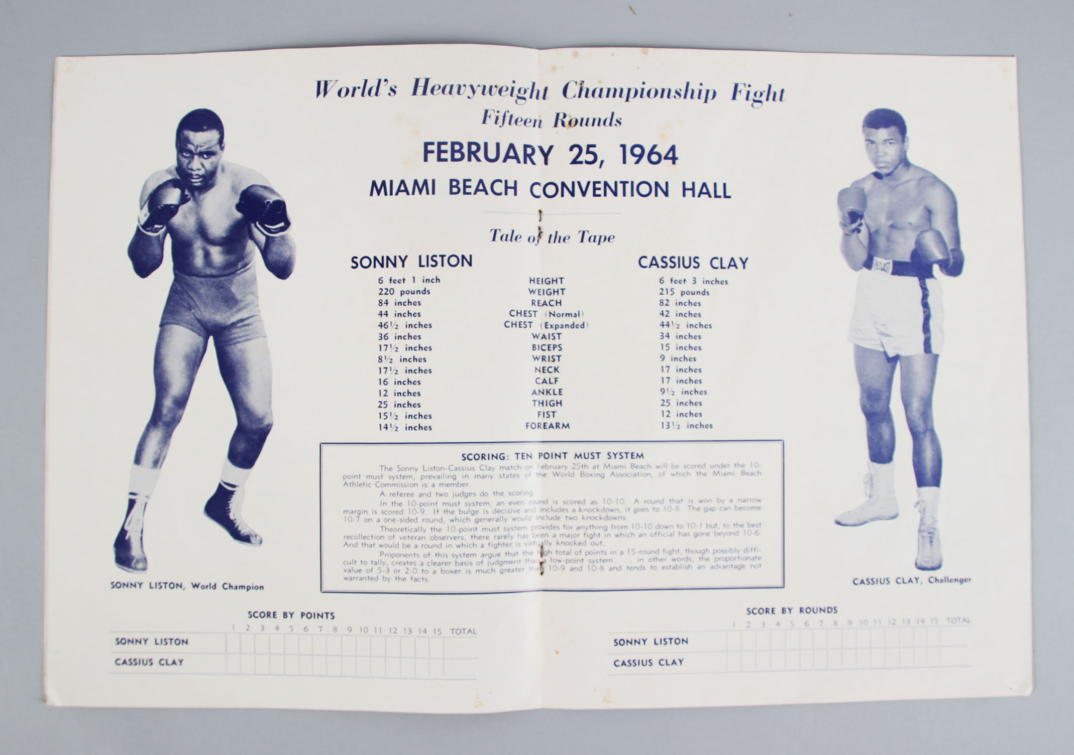 Cassius Clay vs  Sonny Liston I 1964 First Heavyweight Championship Fight  Program | Memorabilia Expert