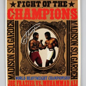 Joe Frazier Signed Fight of The Champs  MSG March 8, 1971 Program
