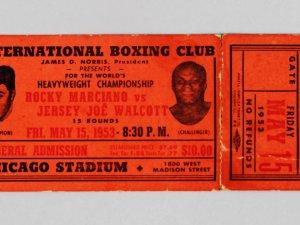 1953 Rocky Marciano vs. Jersey Joe Walcott Boxing Full Ticket