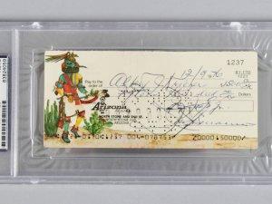 1976 Joseph Bonanno Signed Check to Attorney Hebert J. Kreiger- PSA Slab & JSA