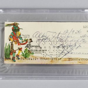 1976 Mob Boss - Joseph Bonanno Signed Check to Attorney Hebert J. Kreiger- PSA Slab & JSA